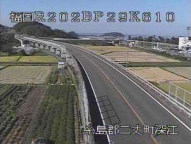 淀川高架橋から国道202号