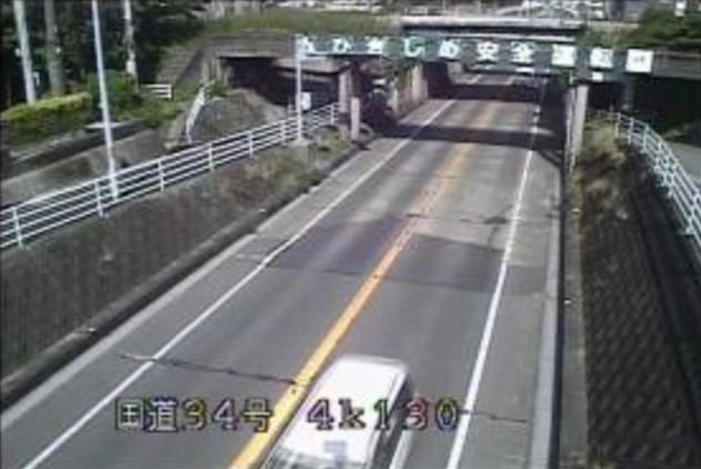 轟木佐賀側から国道34号