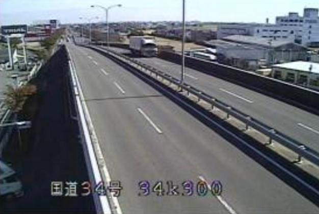 五条高架橋から国道34号