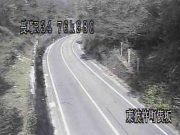 俵坂から国道34号