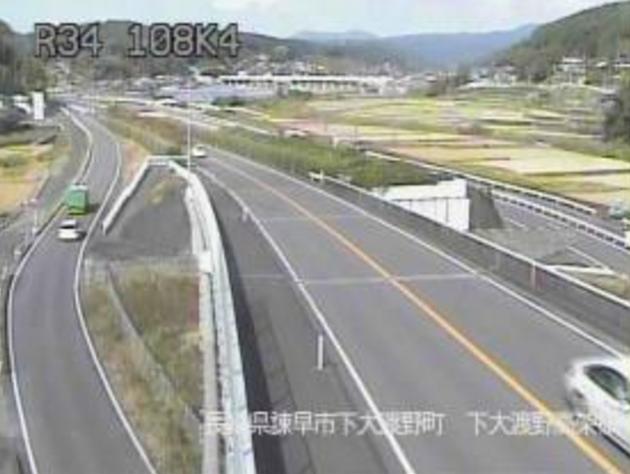 下大渡野高架橋から国道34号
