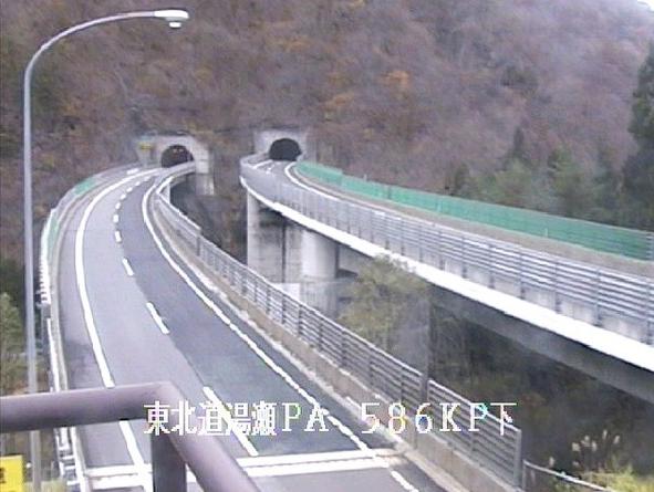 湯瀬PAから東北自動車道(東北道)
