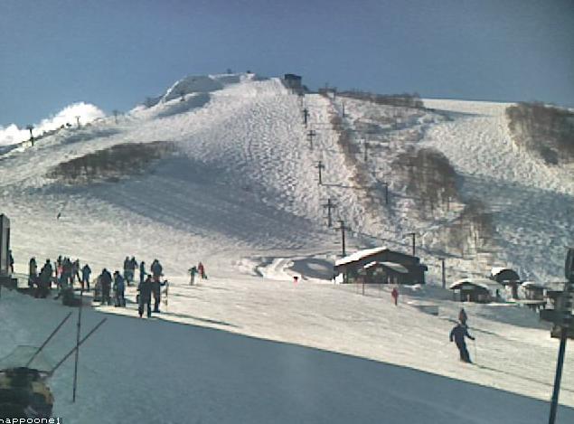 白馬八方尾根スキー場兎平黒菱方面