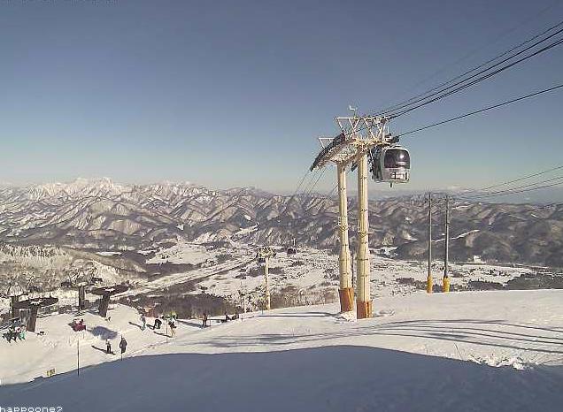 白馬八方尾根スキー場兎平山麓方面