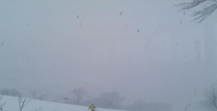 かもい岳山頂からかもい岳スキー場