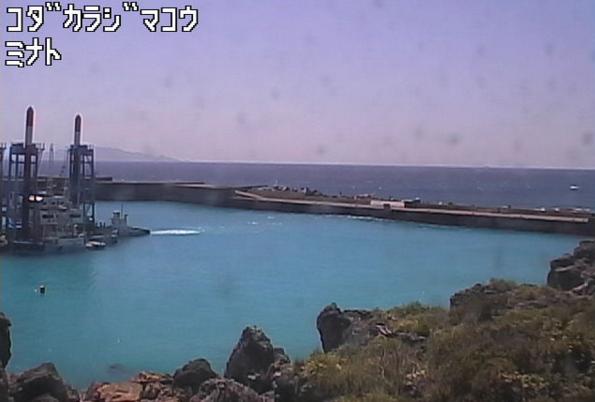 小宝島港から小宝島周辺海域