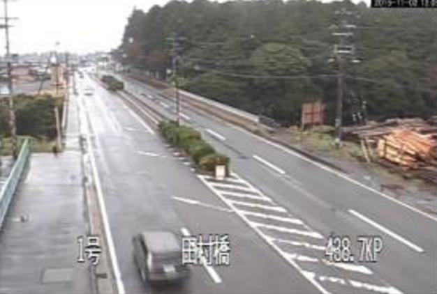 田村橋から国道1号