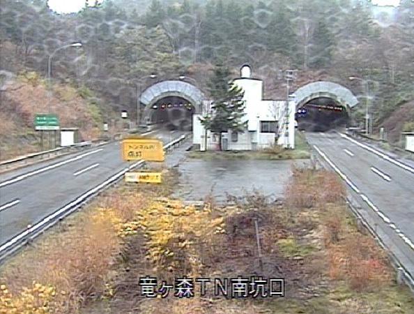 竜ヶ森トンネル南坑口から東北自動車道(東北道)