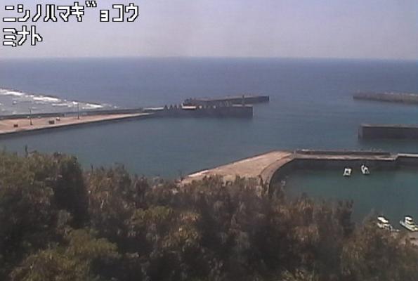 西之浜漁港から口之島周辺海域