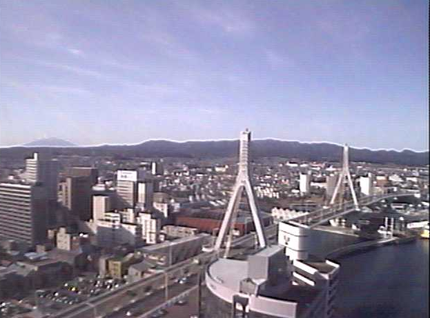青森県観光物産館アスパム8Fからモヤヒルズスキー場