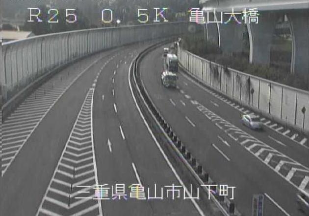 亀山大橋から名阪国道(国道25号バイパス)