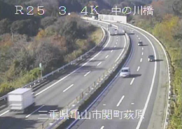 中の川橋から名阪国道(国道25号バイパス)
