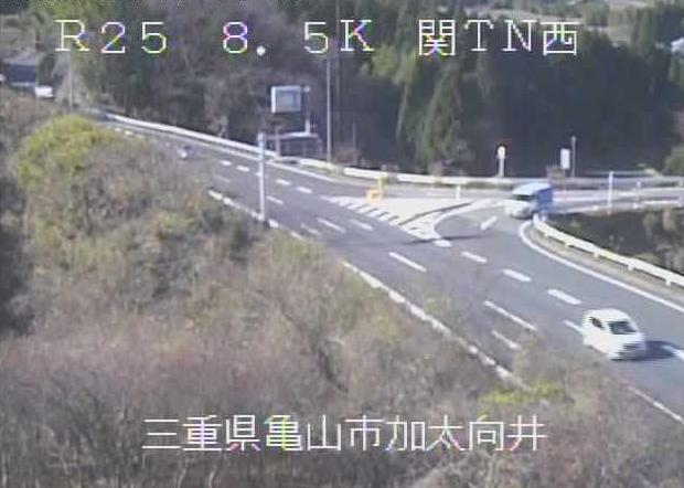 関トンネル西から名阪国道(国道25号バイパス)