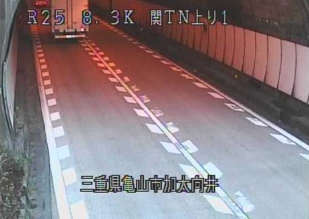 関トンネル上りから名阪国道(国道25号バイパス)