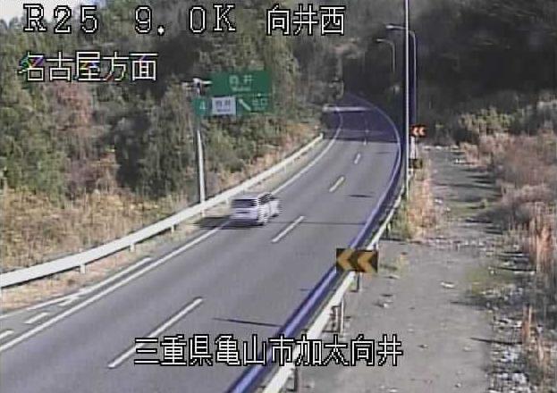 向井西から名阪国道(国道25号バイパス)
