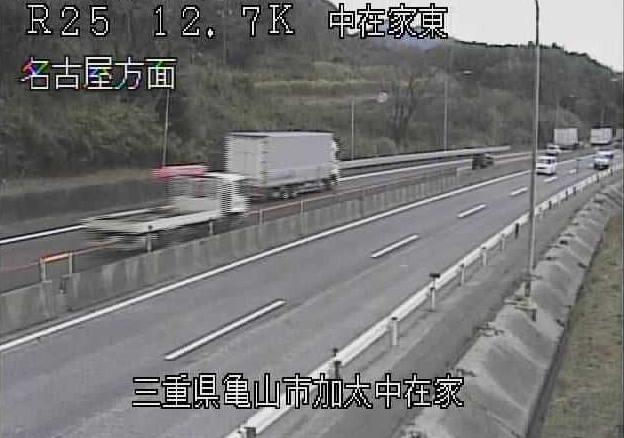 中在家東から名阪国道(国道25号バイパス)
