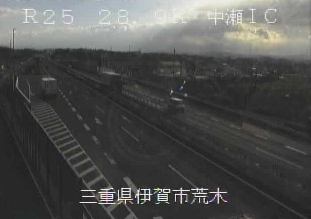 中瀬インターチェンジから名阪国道(国道25号バイパス)