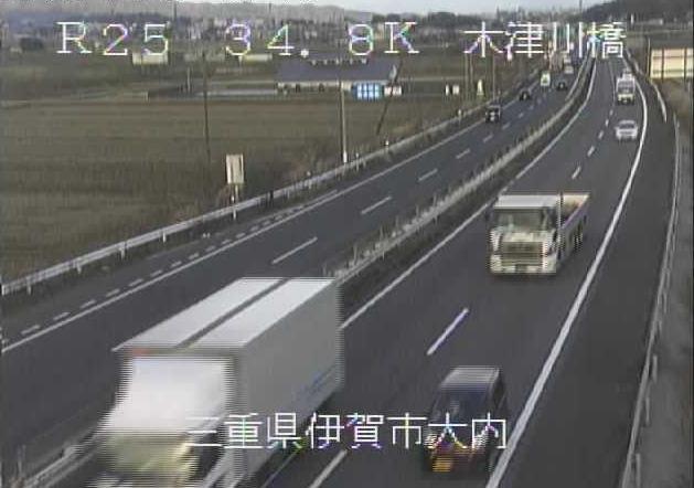木津川橋から名阪国道(国道25号バイパス)