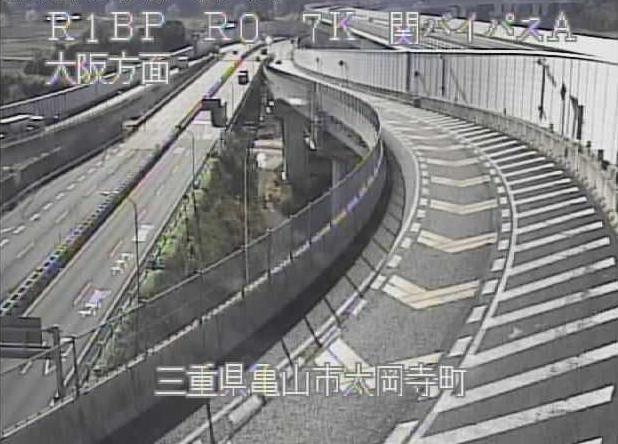 関バイパスから名阪国道(国道25号バイパス)