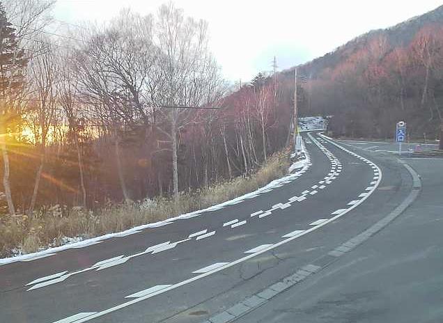 丸沼高原スキー場から国道120号