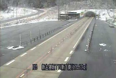 国道13号新主寝坂トンネル新庄側