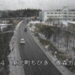 国道4号東北町ちびきライブカメラ(青森県東北町向平)