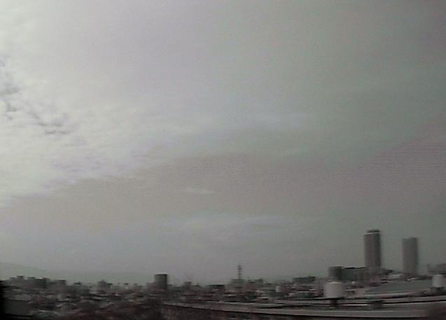 岐阜地方気象台から岐阜駅方面上空
