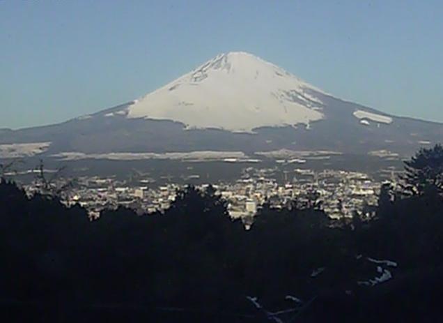 御殿場市温泉会館から富士山