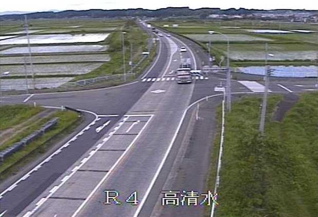 高清水から国道4号が見えるライブカメラ。