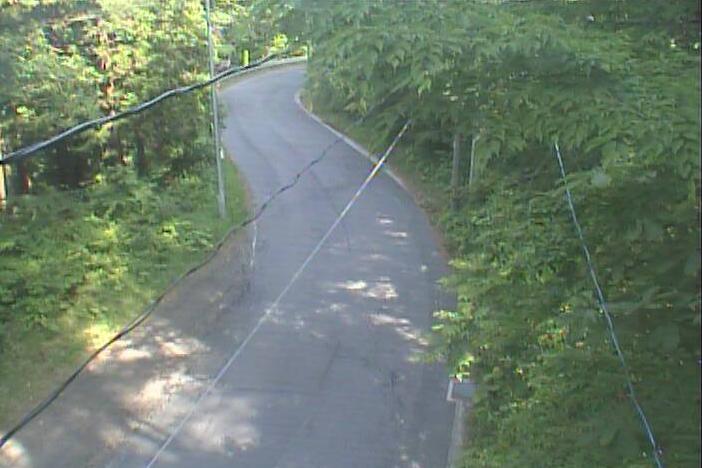 白浜峠から岩手県道41号重茂半島線(山田から宮古方面)が見えるライブカメラ。