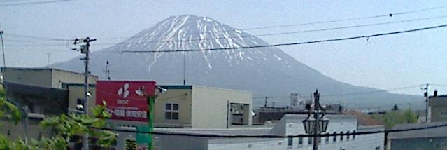 野澤ビジネススクール倶知安校から羊蹄山(蝦夷富士)