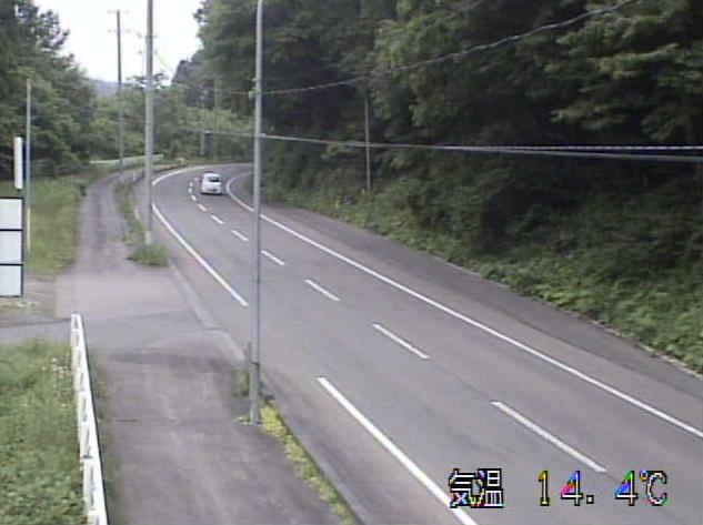 鉛から岩手県道12号花巻大曲線(豊沢から花巻方面)が見えるライブカメラ。
