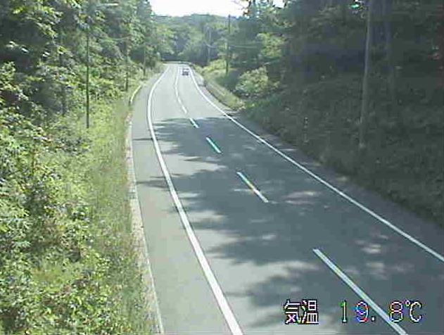 猿越峠から国道395号(二戸から軽米方面)が見えるライブカメラ。