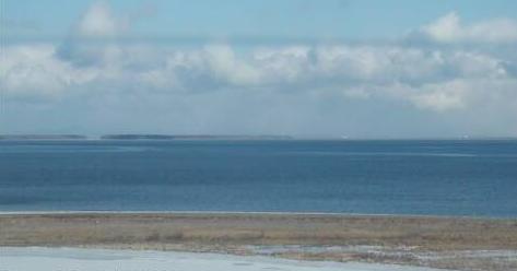 別海北方展望塔から国後島方面(北方領土)・野付半島・オホーツク海