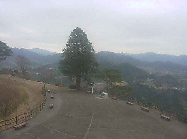 国見ヶ丘から高千穂盆地・阿蘇五岳方面