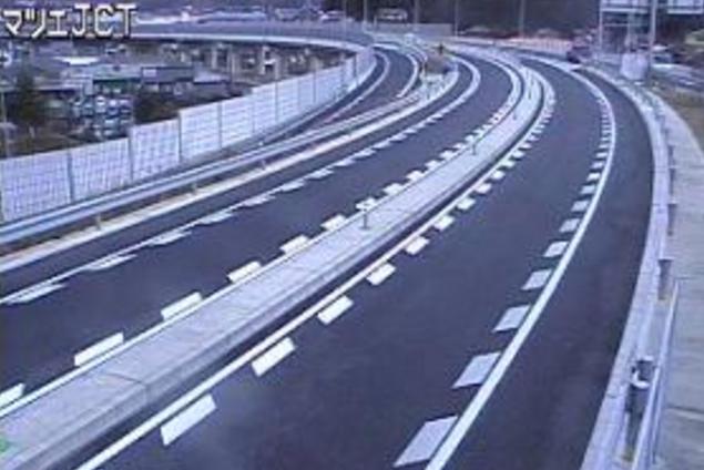 松江ジャンクションから国道485号