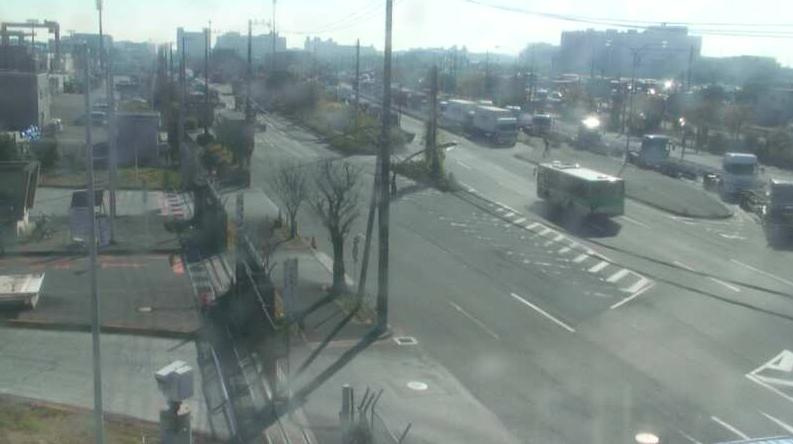 大井コンテナターミナルから南部陸橋方面