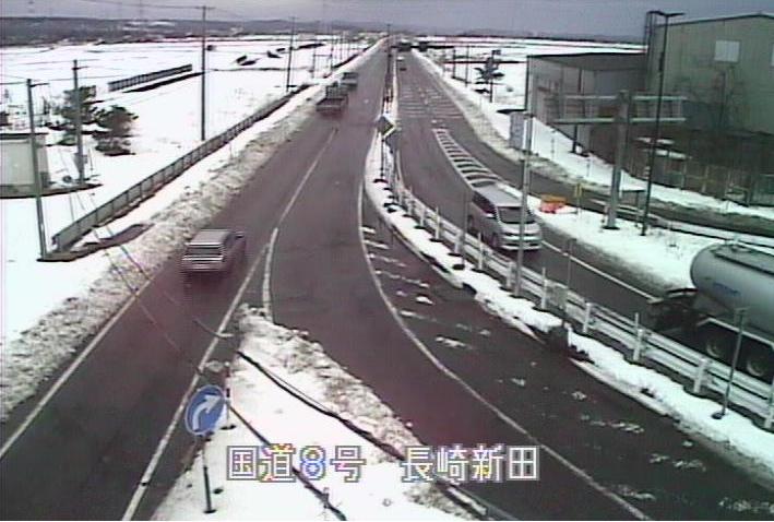 国道8号長崎新田