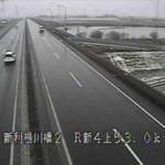国道4号新利根川橋上りライブカメラ(茨城県古河市水海)