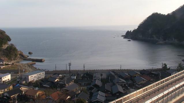 余部橋梁(新橋)から日本海・香住方面