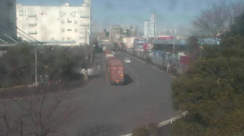 大井コンテナターミナルから2号管理道路