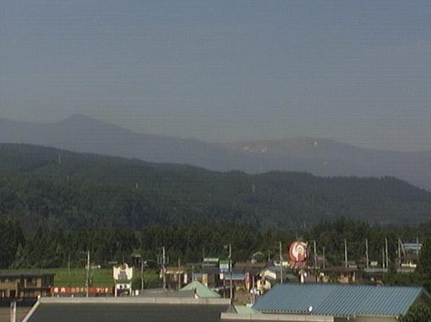 蔵王町役場から蔵王火山(蔵王山)