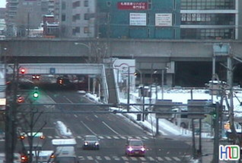 HID札幌本社から北5条手稲通・札幌東口方面
