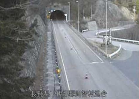 国道153号浪合トンネル南