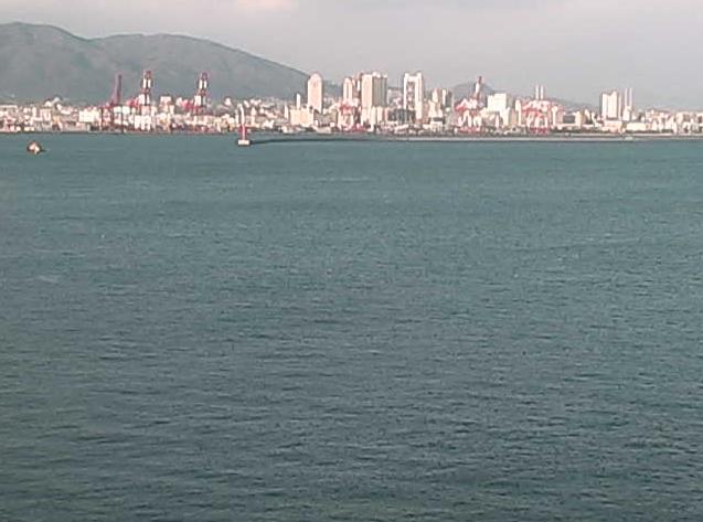 神戸第二信号所から神戸港・大阪湾