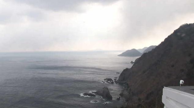 経ヶ岬灯台から立岩・日本海