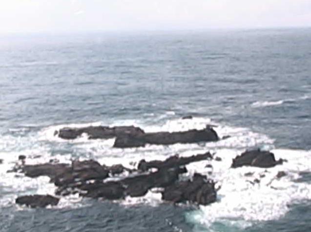 沢崎鼻灯台から大島沖合・神子岩・内岬漁港・日本海