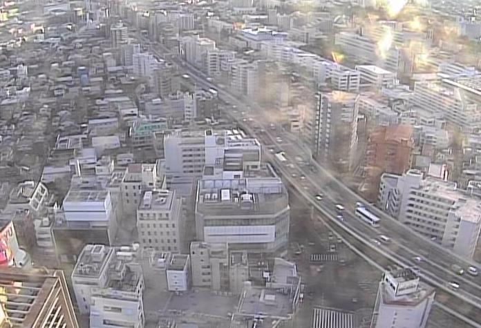 三軒茶屋キャロットタワー屋上から首都高速3号渋谷線