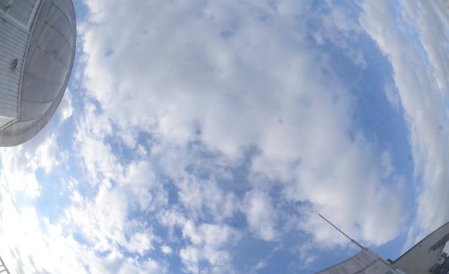 中央大学後楽園キャンパス6号館屋上から文京区上空