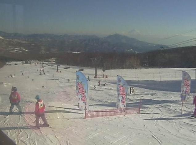 サンメドウズ清里スキー場清里カフェからG1コース・G2コース・ファンタジーパーク・富士山